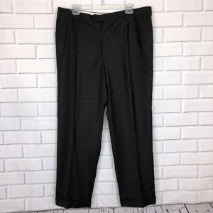 Burberry London Glen Plaid Wool Pants Sz 38 Slacks
